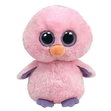 TY Beanie Boos - POSY the Pink Chick (Solid Eye Color) (Regular Size - 6 inch)