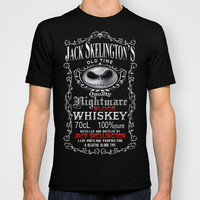 Halloween Nightmare Before Christmas Jack skellingtons Blood Whiskey Adult Tee T-shirt by Three Second