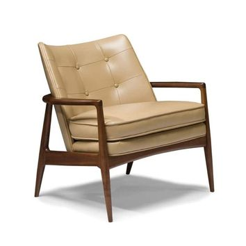 Thayer Coggin Milo Baughman Draper Lounge Chair - Tufted