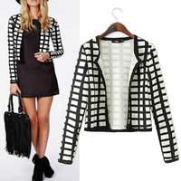 Women's Fashion Plaid Pattern Jacket [6046838209]