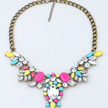 Gift Shiny Jewelry New Arrival Korean Stylish Crystal Classics Lock Necklace [6586422983]