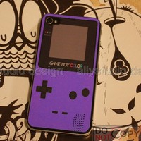 Gameboy purple iPhone 4 Decal Decal protect skin by allystudio