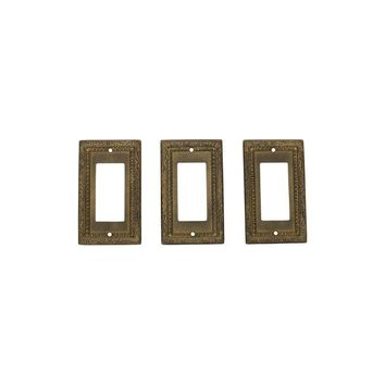 Pre-owned Vintage Brass Light Switch Plates