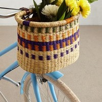 Tonal Weave Bike Basket by Anthropologie