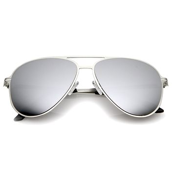 Modern Sports Mirrored Lens Metal Aviator Sunglasses 58mm A786