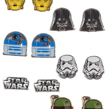 Star Wars Stud Earrings Set - PLASTICLAND