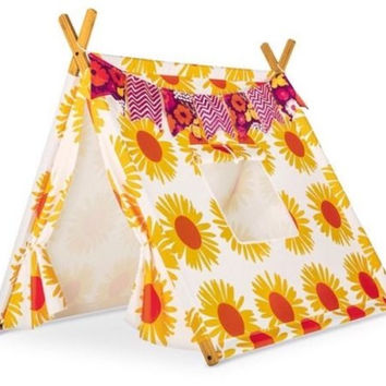 Marimekko Target Play Tent Auringonkukka Sunflower Print Child Fort