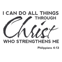 wall quotes wall decals - Christ Strengthens Me