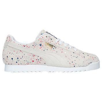 men s puma roma s splatter casual shoes  number 1