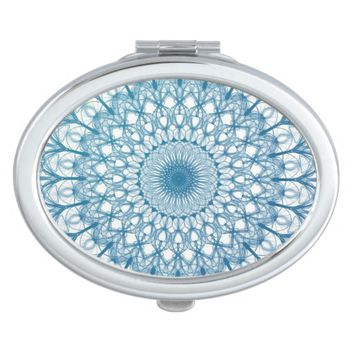 Bohemian Sky and Turquoise Blue Fractal Design Vanity Mirrors