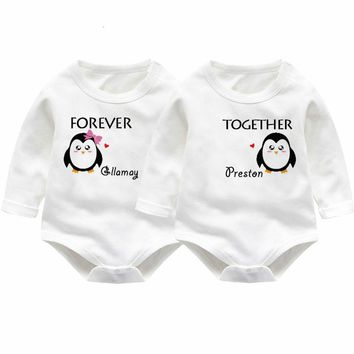 Twins Baby Rompers Winter Baby Boys Girl Clothing Newborn Baby Clothes Roupas Bebe Long Sleeve Baby Girl Clothes Infant Jumpsuit