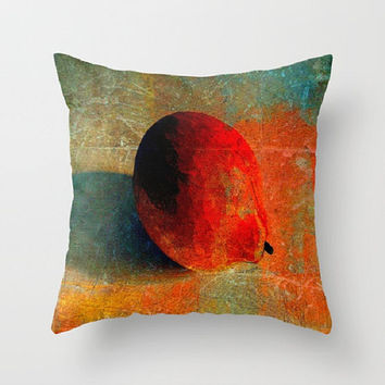 Lemon Still Life, Lemon Graffiti, Orange - Decorative Throw Pillow Cover, 3 Sizes Available - Home, Newlyweds, Gift - Made To Order - LG#84