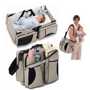 2 in 1 Baby Collapsible Crib and Stroller Bag