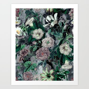 Floral Camouflage VSF016 Art Print by VS Fashion Studio