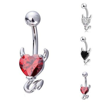 ac DCCKO2Q 1Pc Fashion Sexy Shiny Navel Belly Button Ring Rhinestone Body Piercing Jewelry