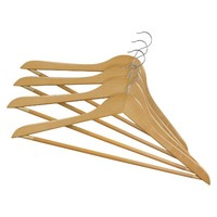 Threshold™ 24-Pack Wood Hanger - Light Maple