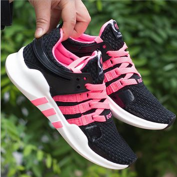 Women Adidas Equipment EQT Support ADV Pink Casual Sports Shoes Black Pink