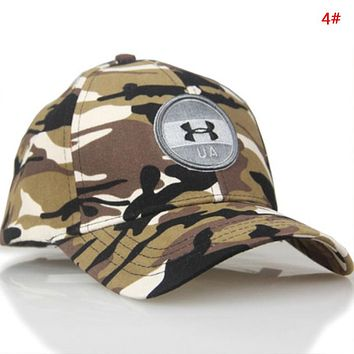 Under Armour Fashion New Embroidery Letter Sun Protection Camouflage Cap Hat 4#