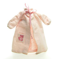 Skipper Dreamtime Robe Pink Flannel Nightgown Pajamas with Kitty Cat on Pocket
