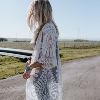 Magical Bohemian Lace Duster - Ivory