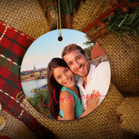 I Love You Custom Photo Personalized Christmas Ornament!