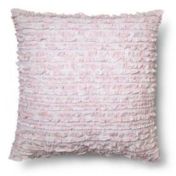 Rose Slipper Ruffle Square Pillow - Pink - Simply Shabby Chic®