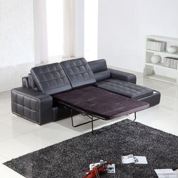 Divani Casa T225 - Modern Leather Sectional Sofa Bed