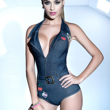 Denim Bodysuit - By Mapale