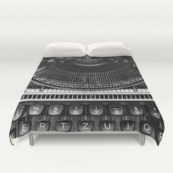 Typewriter Duvet Cover by Mixed Imagery