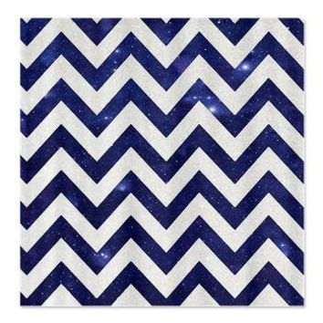 SILVER GALAXY  NIGHT CHEVRON  *** SHOWER CURTAIN  *** Beautiful things for your home by  Sunlight Studios
