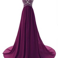 GKD A-Line Empire Long Formal Evening Prom Dresses