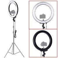 "Neewer Camera Photo/Video 18""Outer 14""Inner 600W 5500K Dimmable Ring Fluorescent Flash Light (Light Only)"