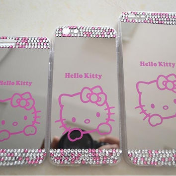 Hello Kitty Diamond Bling Mirror Phone Case for iphone 5/5S 6/6S 6/6S Plus