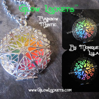 Rainbow Mystic Glow Locket