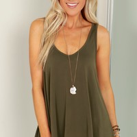 Casual Tank Top Olive