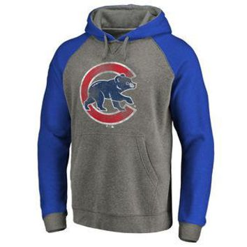 Chicago Cubs MLB Gray/Blue Ultra Pullover Hoodie