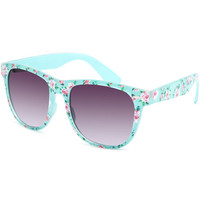 Full Tilt Floral Classic Sunglasses Mint One Size For Women 21450052301