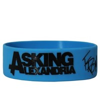 Asking Alexandria Destiny Cuff Blue Wristband - Buy Online at Grindstore.com