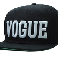 Cool Kings Black Letter Vogue Snapback Cap Hat for Men and Women Baseball Cap