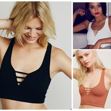 Comfortable Beach Bralette Stylish Summer Hot Sexy Women's Fashion Tops Hollow Out Ladies Vest [10199543879]