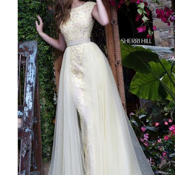 Sherri Hill 11288 Elegant Beaded Lace Gown