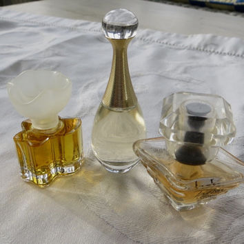 Vintage Perfume Lot, Mini Perfumes, J'Adore, Tresor, Oscar de La Renta, Paris Perfume Lot of Three