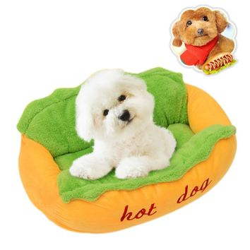 2017 Funny Soft Pet Sleeping Bed Nest Kennel Cushion Cute Puppy Dog Beds Hot Dog