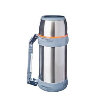 THERMOS TOURIST SATOSHI metal with a wide neck 1500 ml discount sale high quality vacation travel hiking lure 841-631
