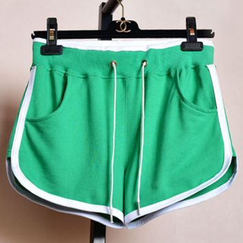 Fashion Running high-waisted hot pants slacks