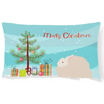 Fluffy Angora Rabbit Christmas Canvas Fabric Decorative Pillow BB9326PW1216