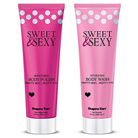 Sweet & Sexy Body Wash and Polish set by Supre - Hydrating - Exfoliating - Shower Bundle - Skin Firming - Amazing Scent - 2 Piece Set 9 oz each - 100% Satisfaction Guarantee! - Makes a Great Gift! Beautiful Smooth Skin! Great for Sunless Tanning Prep