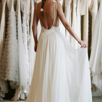 Prom 2014, backless gown, lace Prom Dress,Backless Prom Dress, lace chiffon prom dress,lace bridemaids dress