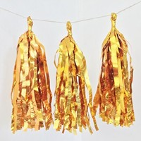 """19""""x13.5"""" Tissue Paper Garland Wedding Birthday Party Baby Shower Decoration Bunting Pom Pom Color Gold"""