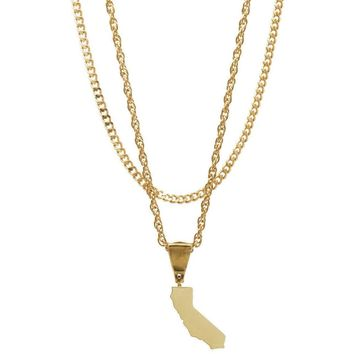 Mister State CA Necklace - Gold